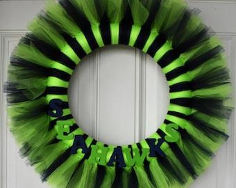 Seahawks wreath Etsy