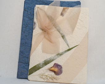 Handmade blank note cards with envelope, handmade paper blank note cards set.