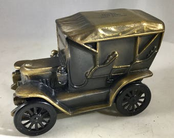 Vintage 1974 Banthrico Cast Metal  Antique Car  Bank