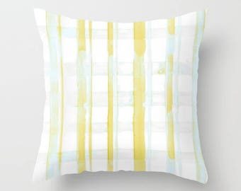 Yellow Pillow, Plaid Pillow, Dorm Pillow, Farmhouse Pillows, Decorative Pillow, Cabin Pillow, Farmhouse Plaid, Ochre Nest Living