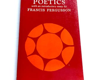 """Vintage Poetic book """"Aristotle's Poetics"""" with an introductory essay by Francis Fergusson"""