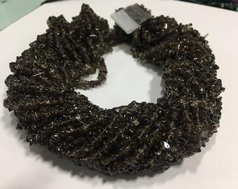 Smokey chips beads,uncut smokey chips beads