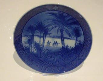 Royal Copenhagen Porcelain Christmas Plate 1972 In The Desert