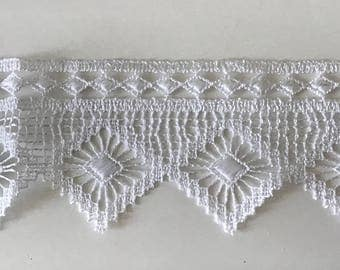 7.5 cm wide white guipure lace quality