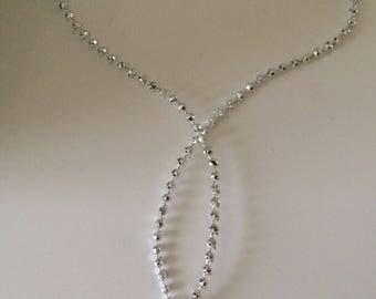 Mini acrylic Ribbon bead cord 2 mm in size