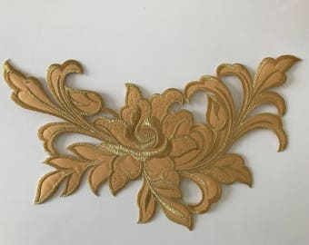 Applique iron yellow gold 26 cm approx very nice