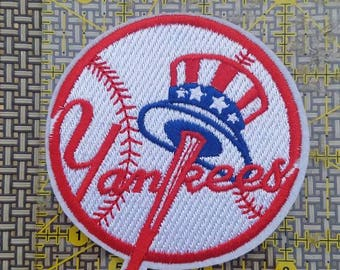 New York Yankees iron on inspired embroidery patch