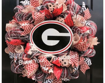 Deco Mesh University of Georgia wreath!