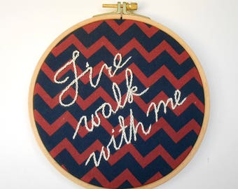 Twin Peaks Hoop, Fire Walk With Me, TV show, David Lynch, Twin Peaks merch