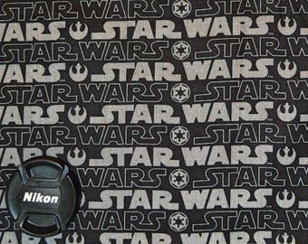 Star Wars Fabric Black and Gray Logo with Rebel and Empire Symbols