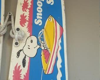 Vintage Snoopy Waterskis