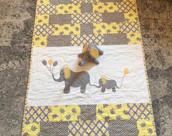 Elephant Quilt, Baby Quilt