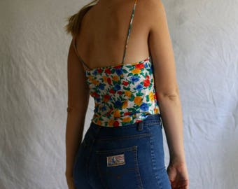 floral camisole in primary colors / large