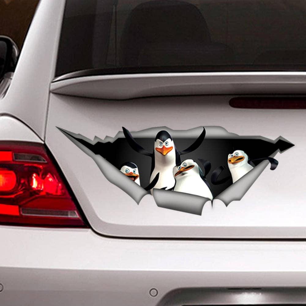 Penguins Madagascar Car Decal 3d Sticker Funny Sticker