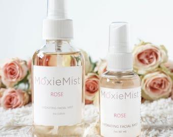 Rose Water Toner 2 oz/ Hydrating Toner/ Natural Toner/ Vegan skincare/ Facial Toner/ rosewater for face/ sensitive toner/ dry skin toner