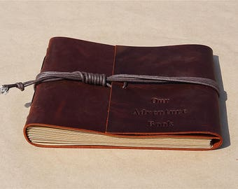 Custom Our Adventure Book Guest book Photo Album, Scrapbook, Memory Book, Wedding guest book, leather guest book