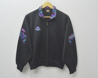 KAPPA Jacket Vintage 90's Kappa Multicolor Spellout Track Top Sweater Activewear Women's Size Jaspo M