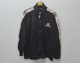 Karl Kani Jeans Jacket Karl Kani Jeans Taped Logo Spellout Zipper Sweater Activewear Size L