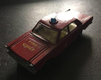 Matchbox Lesney vintage rare Ford Galaxie fire chief car