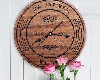 Modern Newly Wed Gift - Mr and Mrs ideas - Mr and Mrs Items