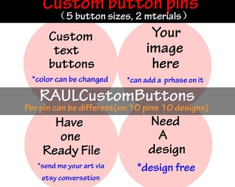 Pinback Button Pin, Button Badge, Custom Buttons Badge, Buttons Pins Badges, cute pins