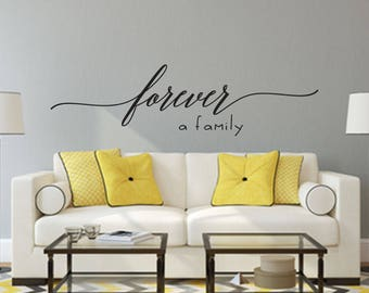 Forever a Family Home and Family Vinyl Wall Decal