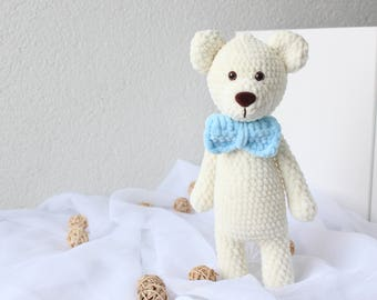 Soft Bear, Softie Stuffed bear, Amigurumi Bear, Crochet bear animals, handmade bear, christmas gift, Soft plush bear, stuffed animal toy,