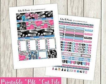 MINI ME (son) Printable Planner Stickers/Monthly Kit/Weekly kit/For Use with Erin Condren/May Mothers Day Mom child Birthday Glam