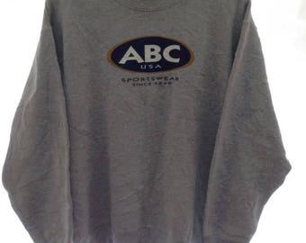 MEGA SALE !! Abc Hawaii Usa Sportwear Sweatshirt Surfing Brand Medium Size Skateboard Brand