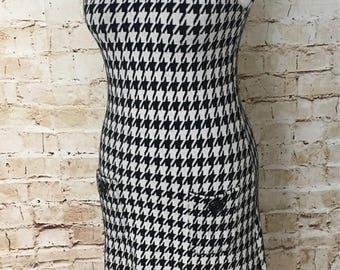 Twiggy 60's houndstooth print dress