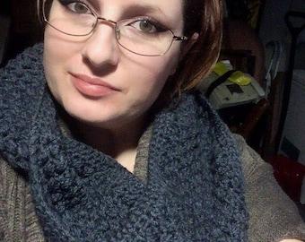 Crochet brown infinity scarf