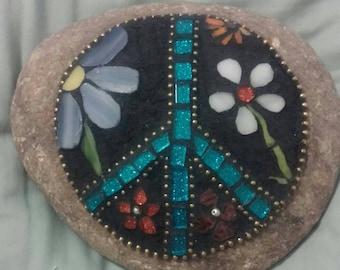 Peace garden stone mosaic