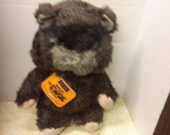 star wars ewok paploo stuffed doll return of jedi with tag 1984 by kenner