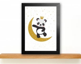 A4 Panda Poster Children's Room picture Kids poster