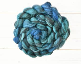 Ocean - Corriedale Combed Top Spinning or Felting Fiber - Twisted Fiber Shop