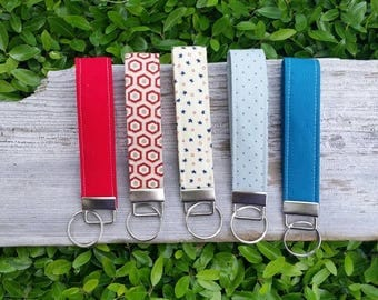 Patriotic key fob | red white and blue | American flag | Memorial Day | 4th of July |