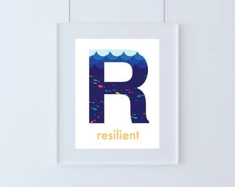 Letter R for Resilient Kids Art Printable