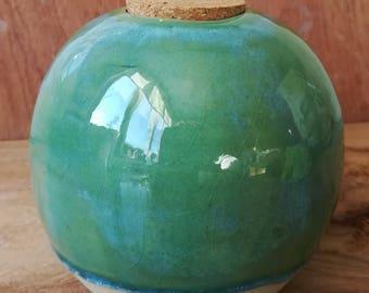 Vase rond, fait main en céramique