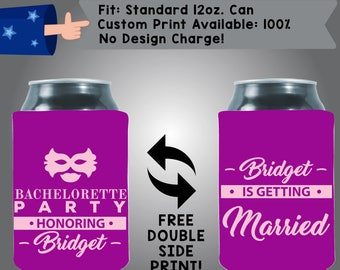Bachelorette Party Name is Getting Married! Collapsible Neoprene Bachelorette Cooler Double Side Print (Bachelorette34)