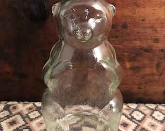 Vintage Snow Crest Bottle Bear Bank 1950's