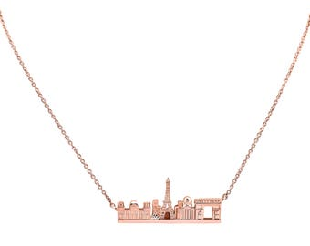 Paris Skyline Rose Gold