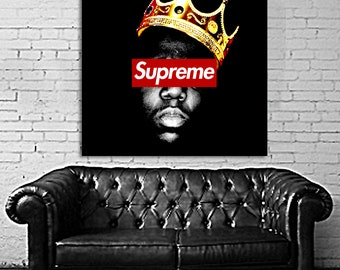 24 Poster Hypebeast Supreme Canvas & Stretcher Bars Frame
