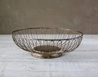 Vintage metal bowl-basket-Food Photography Prop