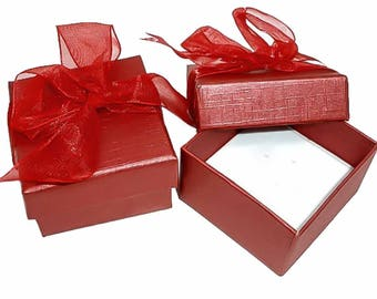 60 Luxurious Gift Boxes Red 5 x 5 cm M. loop