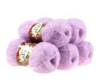 5 x 50 g knitting wool of ALIZE KID ROYAL lilac #27