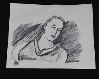 Clarke's Drawing of Lexa - Hand Drawn with Charcoal