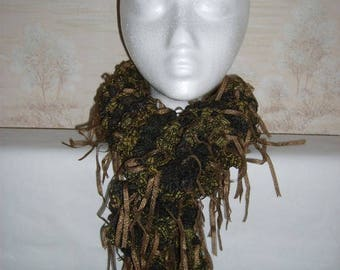 Fancy bronze Brown scarf