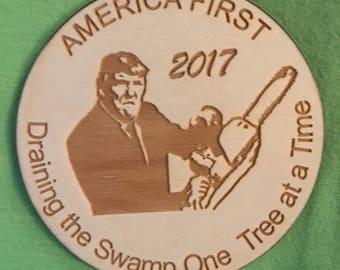 FREE SHIPPING! Donald Trump Christmas Ornament