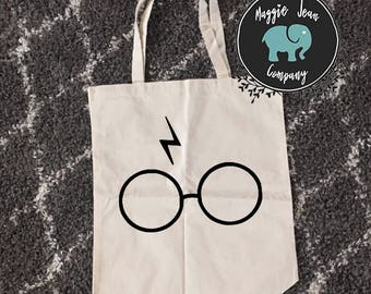 Harry Potter Tote, Bag, Canvas Tote, Deathly Hallows, Harry Potter Gift