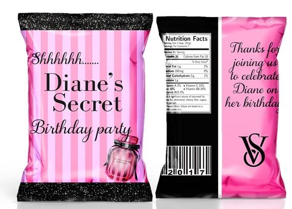 Victoria Secret Chip Bag Pink Chip Bag Vs Party Favor